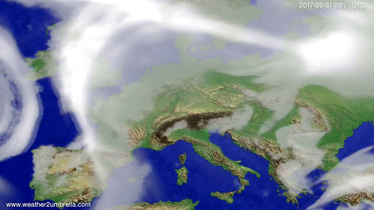 Cloud forecast Europe 2017-03-28