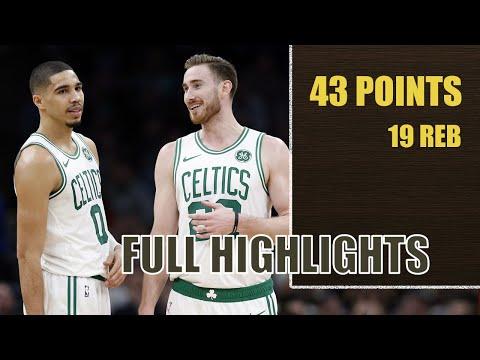 Gordon Hayward & Jayson Tatum combined 43 points highlights   Celtics vs Hornets   Nov 7th 2019