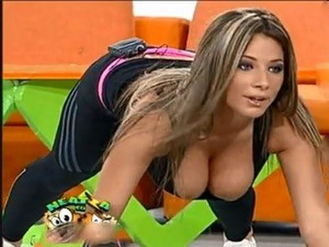 Hot Girl Does Exercise With Big Boobs 2015