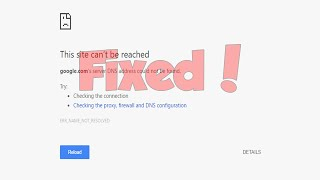 How to fix server dns address could not be found site couldn't be reached! Enter 8.8.8.8 as the Preferred DNS Server Enter 8.8.4.4 as the Alternate DNS Serve...