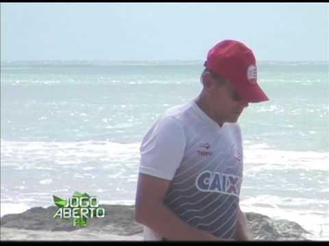 [JOGO ABERTO PE] Náutico treina na praia