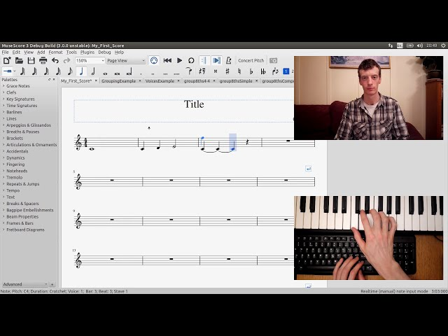 YouTube video: GSoC with MuseScore - Semi-Realtime MIDI Demo Part 1: New note entry modes