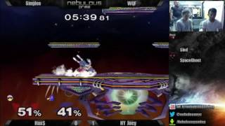 Nebs After Dark  22 – 7/19/16 : Singles – WQF: Hax$(FALCON) vs. NY Joey(Falco)