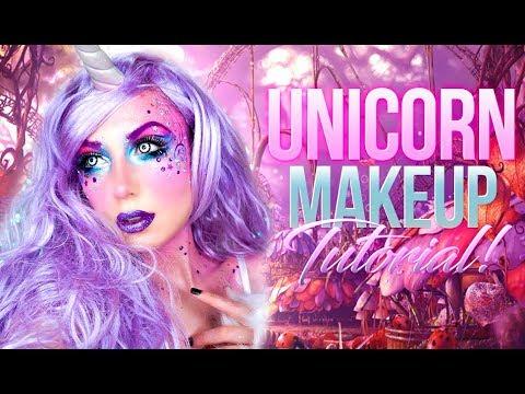 Unicorn Glitter Glam | Spirit Halloween | MakeUp Tutorial & Costume 2017 | Victoria Lyn Beauty