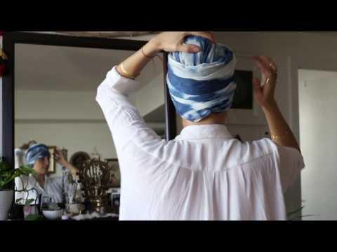 How to tie your turban householder style for Kundalini Yoga, Turban Technology with Myrah Penaloza