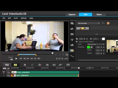 Corel VideoStudio Pro X8, advance cloning effect