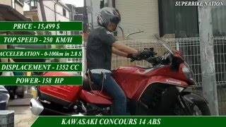 5. KAWASAKI CONCOURS 14 ABS VS BMW K1600 GT-specifications
