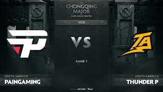 paiN Gaming vs Thunder Predator, Game 1, SA Qualifiers The Chongqing Major