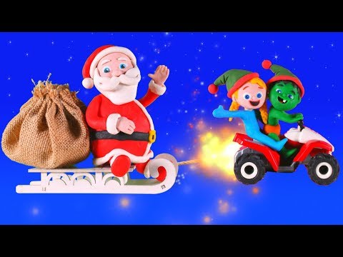 KIDS HELPING SANTA ❤ PLAY DOH CARTOONS FOR KIDS