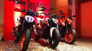 2017 KTM Duke 200, 250, 390 Launch - Live | MotorBeam