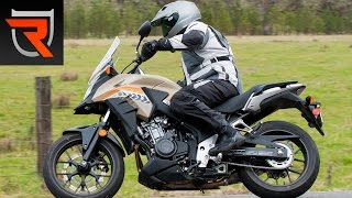 3. 2016 Honda CB500X ABS Motorcycle First Test Review Video | Riders Domain
