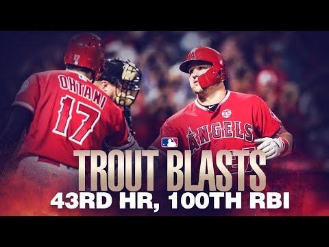 Video: Trout's MLB-leading 43rd homer