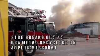 Joplin (MO) United States  city photos gallery : USA Metal Recycling Fire. Joplin, MO