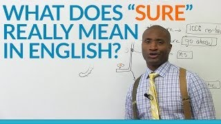 What does the word 'SURE' really mean in English?