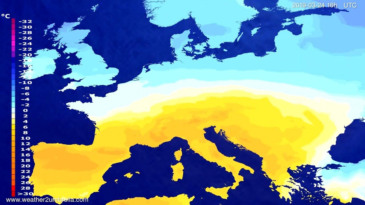 #Weather_Forecast// Temperature forecast Europe 2019-03-23