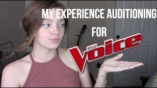 Video My Experience Auditioning for The Voice + My Actual Audition Tape MP3, 3GP, MP4, WEBM, AVI, FLV Maret 2018