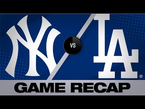 Gregorius' grand slam, 2 homers lead Yankees   Yankees-Dodgers Game Highlights 8/23/19