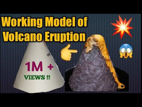 How to make working Model of Volcano Eruption/science project for school exhibition/kansal Creation