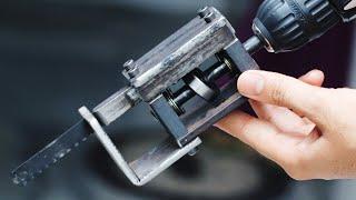 Video DIY Tool Idea || Make A Drill Powered Saw MP3, 3GP, MP4, WEBM, AVI, FLV Februari 2019