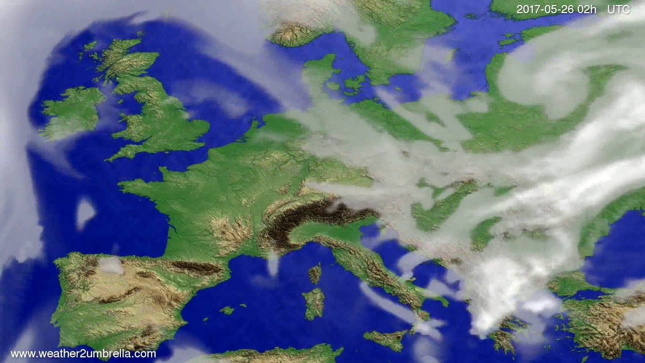 Cloud forecast Europe 2017-05-22