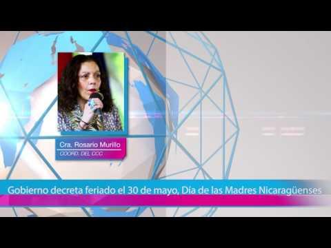 Gobierno decreta feriado el 30 de mayo, Día de las Madres Nicaragüenses