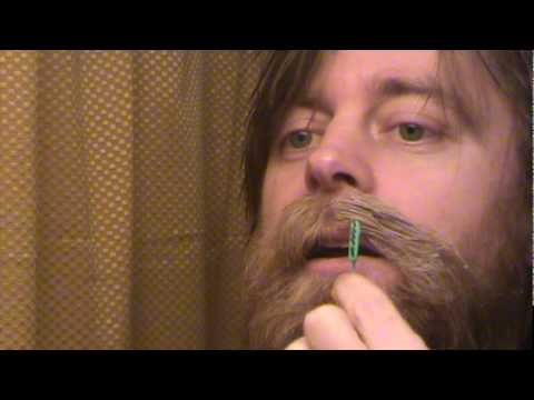 mustache - Demonstration of how to wax a handlebar mustache. I used Clubman wax. There are plenty of other brands. They sell Clubman on Amazon if you can't find it loca...