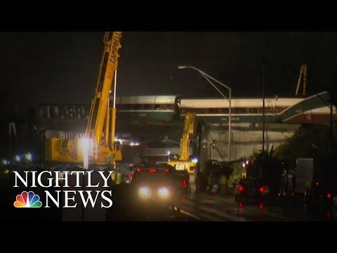 Washington Amtrak Crash Raises Train Safety Concerns | NBC Nightly News