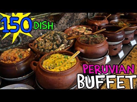 TRADITIONAL Peruvian Buffet in Lima Peru! 150 Dishes!