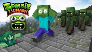 Video Monster School : ZOMBIE TSUNAMI CHALLENGE - Minecraft Animation MP3, 3GP, MP4, WEBM, AVI, FLV Januari 2019