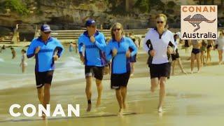 Video Conan Becomes A Bondi Beach Lifeguard - CONAN on TBS MP3, 3GP, MP4, WEBM, AVI, FLV September 2019