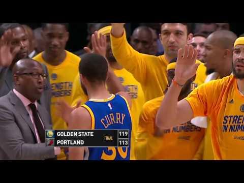 Golden State Warriors vs Portland Trail Blazers- April 22, 2017 (видео)