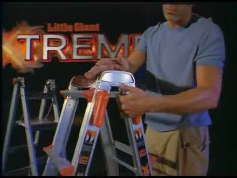little giant ladders - 24 Ladders in 1! The Little Giant Ladder System is an adjustable unit that can transform into 24 ladders. The innovative design eliminates the need for a sec...