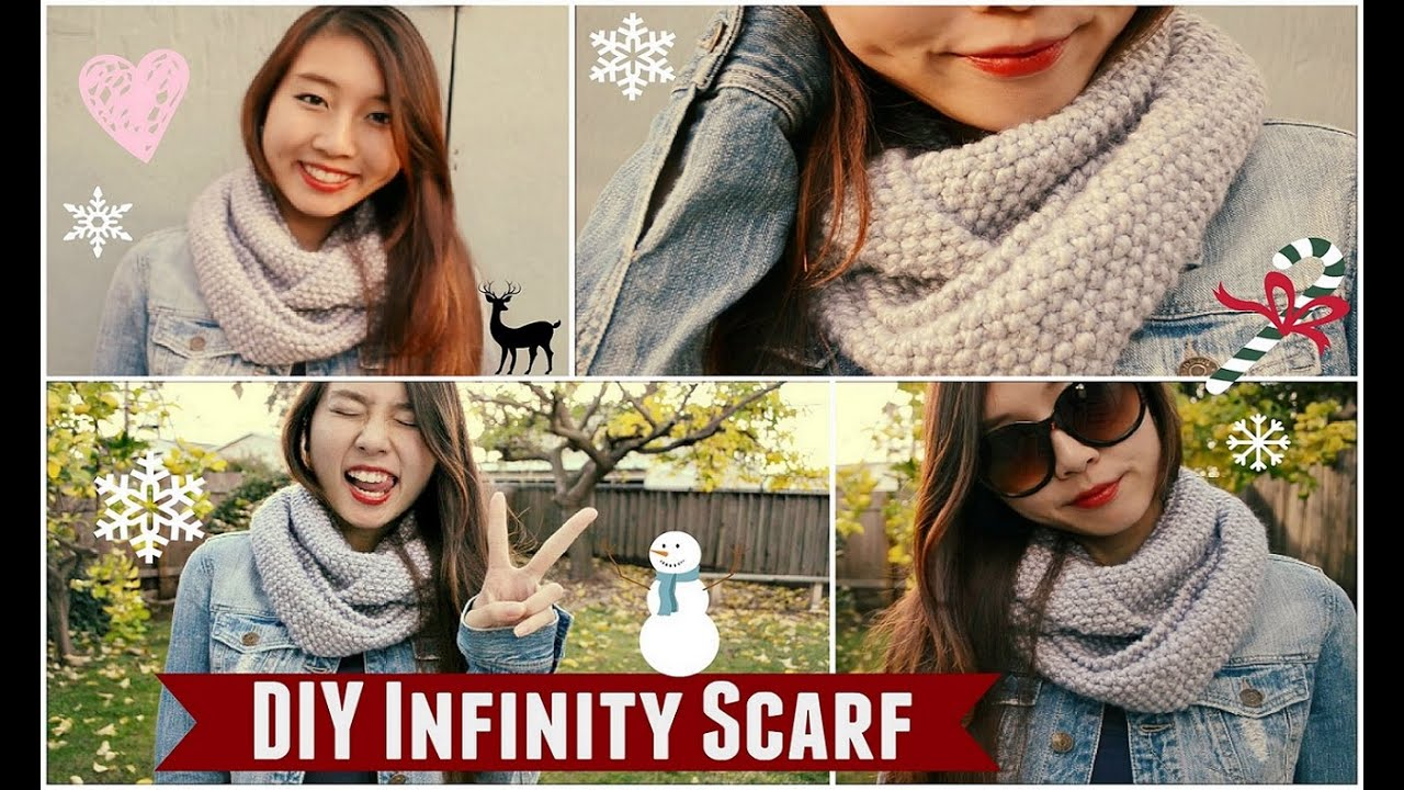 (DMC Knitting/Crochet) ✂ DIY: Infinity/Circle Scarf | How to Knit