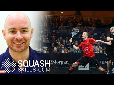 Squash tips: Jesse Engelbrecht on the volley!