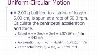 Physics Pre-lab Lecture: Centripetal Force