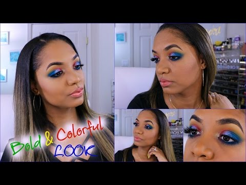 Get Ready With Me ♡ MAKEUP TUTORIAL ♡ Bold COLORFUL Look w/ Smashbox Cover Shot!
