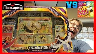 Pokemon Cards BREAK Evolution Box Ho Oh & Lugia Opening Battle vs Laughing Pikachu by ThePokeCapital