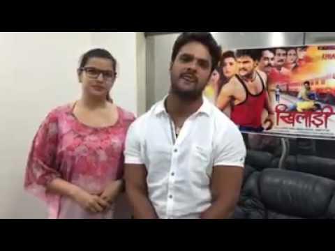 Video Khesari Lal Yadav & Madhu Sharma Interview II Khiladi II Promotion in Bihar download in MP3, 3GP, MP4, WEBM, AVI, FLV January 2017