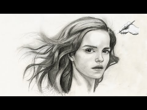✎ PORTRAIT ZEICHNEN – Emma Watson – Speed Drawing – How to Draw a Realistic face