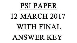 MPSC PSI 12 MARCH 2017 QUESTION PAPER WITH ANSWER FINAL KEY SET A भारताचा महान्यायवादी लेक्चर पाहण्यासाठी क्लिक करा - https://youtu.be/CIi9ekwP6yY महाराष्ट्र...