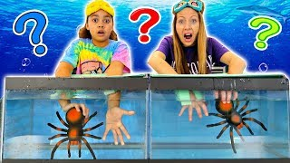 WHAT'S IN THE BOX CHALLENGE UNDERWATER!!