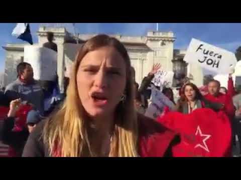 Hondureños En Washington DC Protestan Afuera De La OEA En Contra Del Fraude 9/01/2018