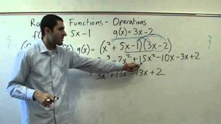 Algebra 2 - Operations On Functions - (f O G)(x)