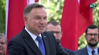 """Andrzej Duda opowiada anegdotę o Błaszczaku – """"Nie wytrzymam, muszę coś państwu opowiedzieć"""""""