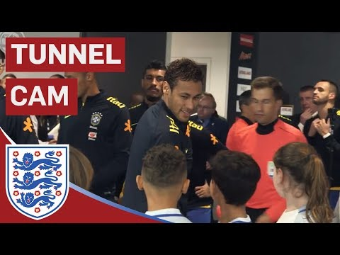 Neymar Jr, Willian, Coutinho in Town as England Take on Brazil | Tunnel Cam | Inside Access