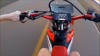 9. CRF 230F - Top speed moto original (velocidade maxima) 2018