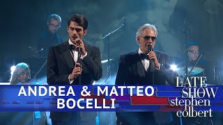 Andrea & Matteo Bocelli Perform 'Fall On Me'