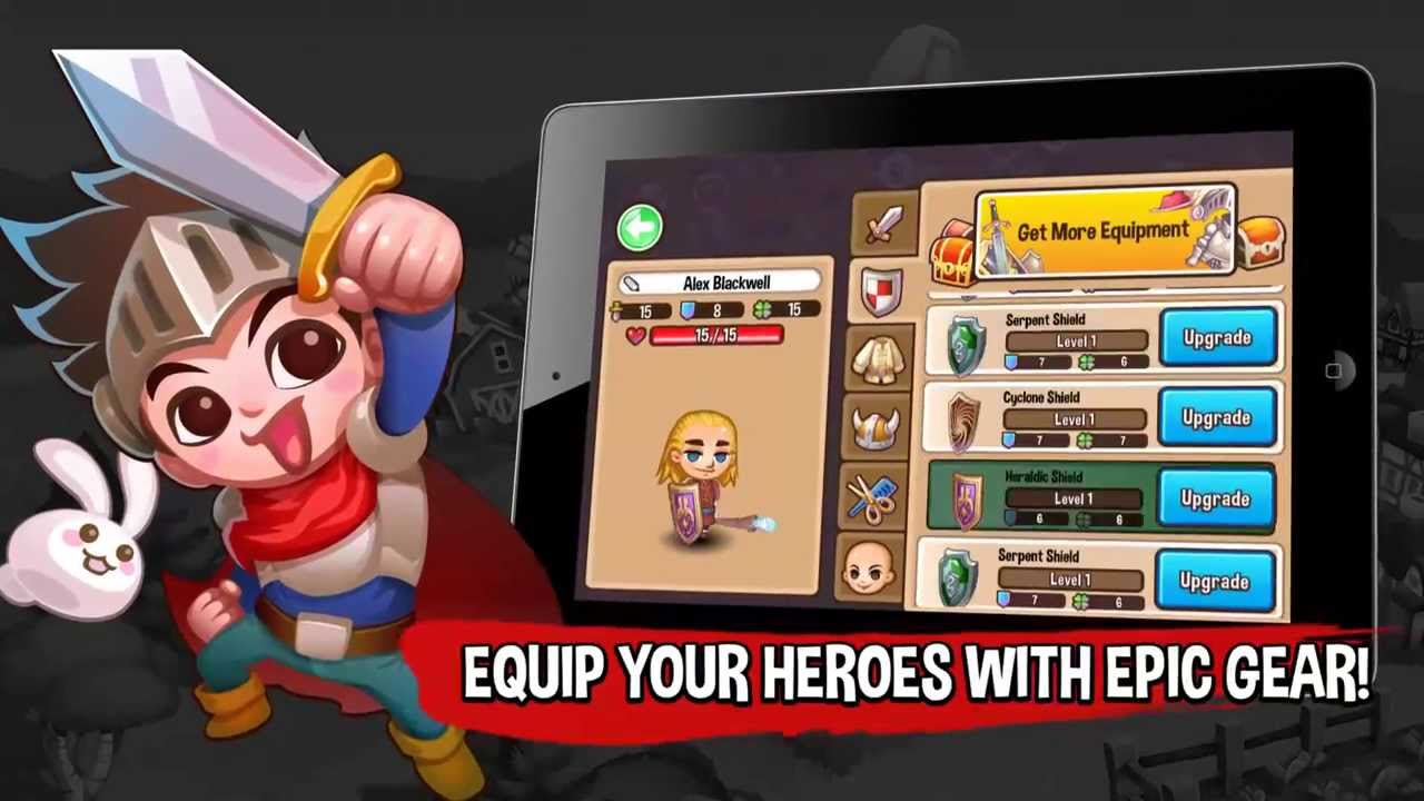 Rebuild your town and attract new Heroes to fight for your cause.