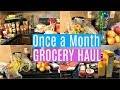 Download Lagu ONCE A MONTH GROCERY HAUL ON A BUDGET Mp3 Free