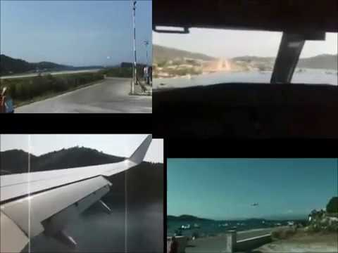 Intense ROAR!! Transavia 737-800 Stunning Landing at Skiathos! SPEAKERS ON MAX!!